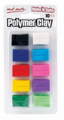 Argile de polymère Make n Bake - couleurs assorties - 10mcx